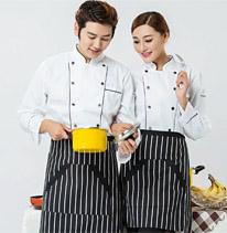 厨师服 白色 双排扣