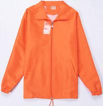橙色风衣 义工团队服