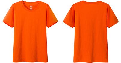 聚会t恤衫 文化衫 纪念衫 橙色 桔红色