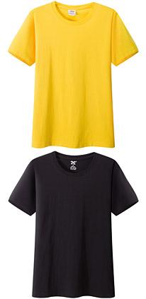 聚会t恤衫 文化衫 纪念衫 黄色 黑色