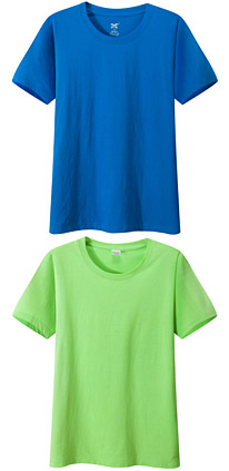 聚会t恤衫 文化衫 纪念衫 湖蓝 果绿色