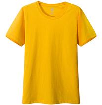 聚会t恤衫 文化衫 纪念衫 黄色