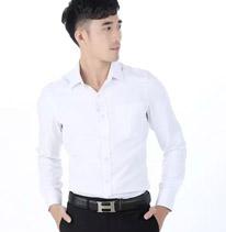 职业装 男装衬衫 白色 长袖