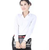 职业装衬衫女装 白色 长袖