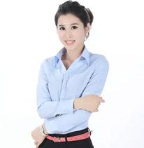 职业装女装 衬衫 长袖 蓝色